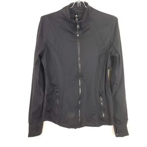 90 Degree Black Full Zip Workout Sweater Medium